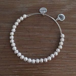 Alex and Ani beaded bangle in silver
